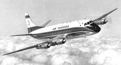 An Air Rhodesia Vickers Viscount (Rhodesia is now Zimbabwe).