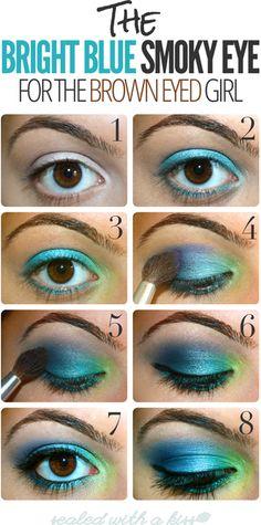 blue/green eyeshadow... If you're a spirit for Halloween this might be a good idea