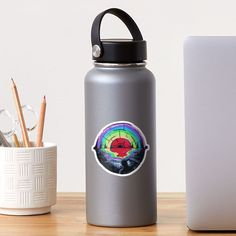 """""""Abstract Rainbow Eye"""" Sticker by TCMstar 
