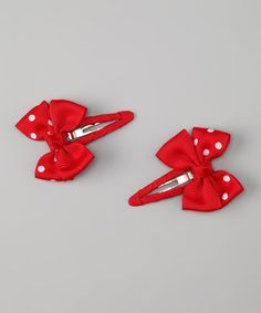 Take a look at this Red Dot Snap Clip Set by Sweet Treat Bows on #zulily today!