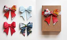 DIY Origami Bows.