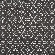 Michael Miller Doodle Damask Gray Fabric