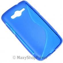 SSYL CUSTODIA TPU CASE SILICONE GEL COVER SAMSUNG GALAXY CORE LTE G386F BLU BLUE NEW NUOVO - SU WWW.MAXYSHOPPOWER.COM