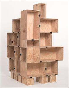 DIY Plywood Box Display Closeup