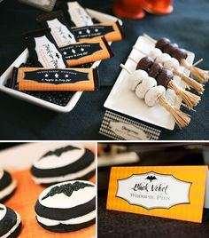 "love the donut display!!! Great idea for little ones Halloween breakfast!! {Wicked Cool} ""Bewitching"" Halloween Bash // Hostess with the Mostess®"