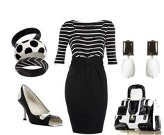 ShopStyle: Color of Fashion #14: Black and White by medeous