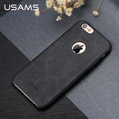 Para el iphone 6 6 s Plus funda de piel cubierta de lujo USAMS serie Bob suave 4.7 pulgadas 5.5 pulgadas cajas del teléfono para el iphone6