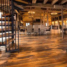 Reclaimed Wood Floors, Hardwood Floors, Wood Flooring, Farmhouse Paint Colors, Wide Plank Flooring, Painting, Home, Wood Floor Tiles, Staining Wood Floors
