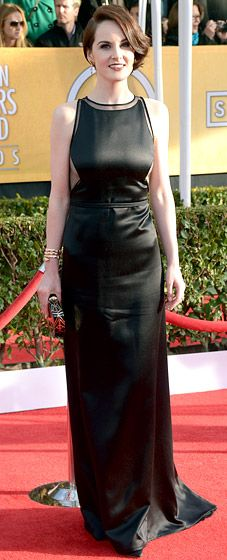 Michelle Dockery flashed sideboob in a vintage Chado Ralph Rucci dress at the 2013 SAG Awards.