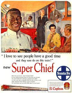 Santa Fe Super Chief El Capitano 1950s - www.MadMenArt.com features over 400…