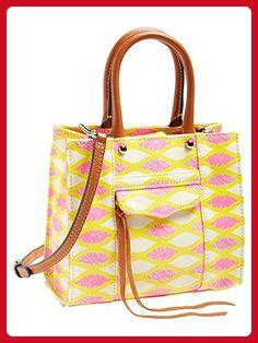 Rebecca Minkoff 'Mini MAB Tote' Crossbody Bag, Yellow / Pink Print - Totes (*Amazon Partner-Link)
