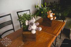 Centro de mesa con peluches