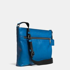 COACH Mens Leather Messenger | Sam Crossbody In Sport Calf Leather