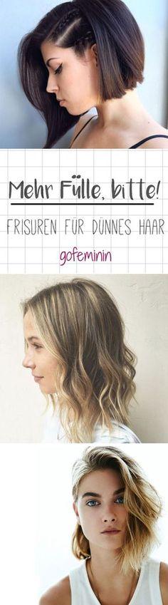 Dünnes Haar ist das Haarproblem Nummer eins vieler Frauen. Etwa 40 Prozent wünschen sich eine etwas kräftigere Mähne, weil es den eigenen Haaren an Substanz und Fülle mangelt. Frisuren für dünnes Haar müssen auf diese besondere Herausforderung eingehen.