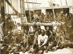 1862 Free refugee slaves without homes during the Civil War on the USS Vermont http://www.slaveryinamerica.org/scripts/sia/gallery.cgi