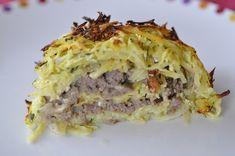 Roulé pommes de terre courgettes et viande hachée