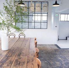 table rustique, grande table de déjeuner en bois