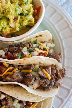 Carne Asada Tacos Carne asada soft tacos with Guacamole photo by Jackie Alpers – Jackie's Happy Plate: A food photography and healthy recipe blog from Jackie Alpers