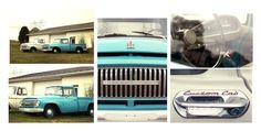 """""""1960s Ford International Truck Photography"""" by mollysmuses ❤ liked on Polyvore featuring art"""