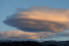 Lenticular cloud over the island of Ikaria, Greece on October 18, 2014