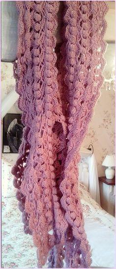 Flower-Lattice-Shawl, my work, pattern by Debi Dearest | Assesoires ...