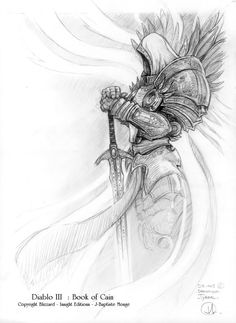 Enjoy a selection of original Sketches by JB Monge for Diablo III: Book Of Cain. Jean-Baptiste Monge is a French Illustrator, author, painter since Knight Tattoo, Armor Tattoo, Norse Tattoo, Viking Tattoos, Sleeve Tattoos, Skull Tattoos, 3d Tattoos, Flower Tattoos, Archangel Michael Tattoo