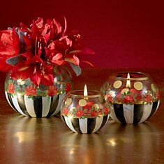 Would love to try this using inexpensive glass fish bowls and painting them myself! Source by napablueberry Next Previous Would love to try this using inexpensive glass fish…Fish Calendar - Which Fish are More Delicious in… Glass Fish Bowl, Glass Vase, Mackenzie Childs Inspired, Mckenzie And Childs, Christmas Crafts, Christmas Decorations, Decoupage, Painted Wine Glasses, Bottle Painting