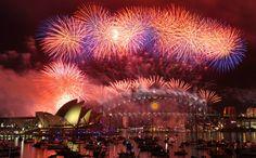 New Year's Eve fireworks decorate the Sydney Harbor Bridge on Dec. 31, 2011