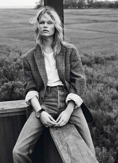 Anna Ewers by Josh Olins for Vogue Paris October 2013 | The Fashionography