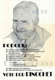 Ancestry, Spanish, Writer, Vintage, Augusto Pinochet, Political Posters, Military, Latin America, Past Tense