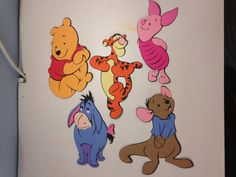 Set of 5 Winnie the Pooh character die cuts by scrappinbjs. Explore more products on http://scrappinbjs.etsy.com