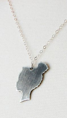 Silhouette Sterling Silver necklace / unique  #Fashionable #Jewelry