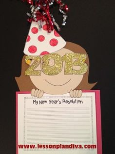 $My New Year's Resolution Craftivity-www.lessonplandiva.com