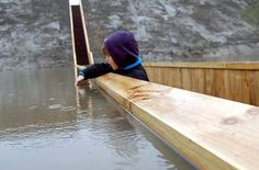 Moses Bridge, Netherlands -  the pathway parts the waters of a moat in the Netherlands. The design was inspired by the surrounding fortress (Fort de Roovere)—designers didn't want to build a traditional bridge and defeat the point of a moat, so they opted to build this intriguing pathway.