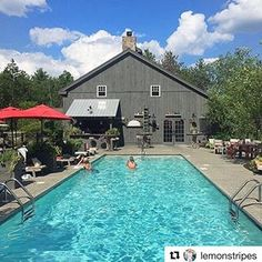 The perfect day for a dip in the Serenity Pool ☀️ #Repost @lemonstripes ・・・ Nothing like a morning salt water swim! Do you see me? 🙋🏼 #Kennebunkport #maine #morningswim
