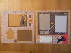 Pre-made Scrapbook Pages   Request a custom order and have something made just for you.