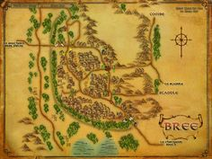 Map of Bree - LotR