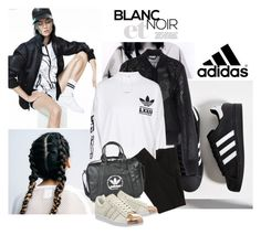 """""""Crazy for Adidas"""" by emeliet ❤ liked on Polyvore featuring adidas, Wish by Amanda Rose, women's clothing, women, female, woman, misses and juniors"""
