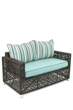 Designer Outdoor Specialty Furniture  Venice Brown Love Seat  $789.00