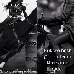 I ride western and English so I know there both equally hard. My friend thinks that English is so much harder then western