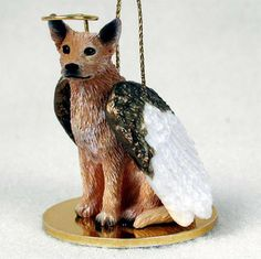 Australian Cattle Dog Guardian Angel Ornament..available with a blue coat too!