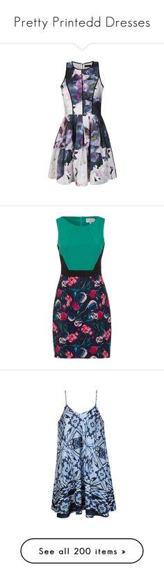 """Pretty Printedd Dresses"" by deedee-pekarik ❤ liked on Polyvore featuring dress, dresses, printed, printeddress, pinteddresses, vestidos, short dresses, print, print skater dress and floral skater dress"