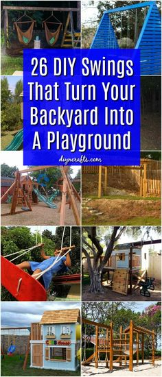 26 DIY Swings That Turn Your Backyard Into A Playground #diy #backyard #projects #swings via @vanessacrafting