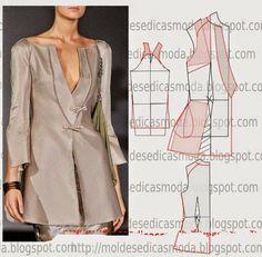 Ecco i ultimi cartamodelli trovati sul web dopo una lunga ricerca. Ecco gli ultimi cartamodelli trovati sul web... Clothing Patterns, Dress Patterns, Sewing Patterns, Sewing Clothes, Diy Clothes, Japanese Sewing, Diy Couture, Pattern Cutting, Pattern Making