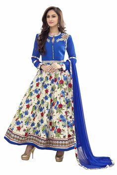 Indian Pakistani Ethnic Anarkali Salwar Kameez Designer Suit Bollywood Dress #Unbranded #SemiStitchedSalwarKameez #CasualWearPartyWear