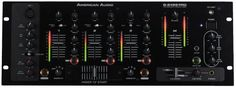 American Audio Q2422 Pro 3 Channel Pro Dj Mixer by American Audio. $174.40. Presenting the Q-2422 Pro The Q-2422 Pro is a 19-inch professional preamp mixer.   Features:         New improved sound quality 3-channel, 19-inch professional DJ mixer 2 Phono, 4 Line, 2 Aux, & 2 Mic Inputs Stream Flow™ LED indicators on each Ch. Easy access auxiliary input on front of the mixer to plug in MP3 players, or satellite radio receivers Bass, Mid & Tremble Control and separate volume for M...