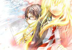 Anime Shigatsu Wa Kimi No Uso  Kaori Miyazono Kousei Arima Fondo de Pantalla