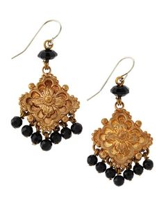 Floral Drop Earrings by Stephen Dweck at Last Call by Neiman Marcus.