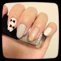 Bow design nails