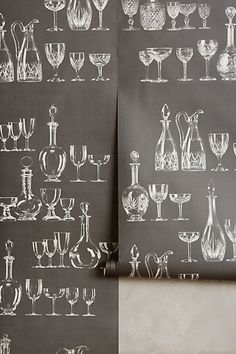 Clinking Glass Wallpaper - anthropologie.com #anthrofave